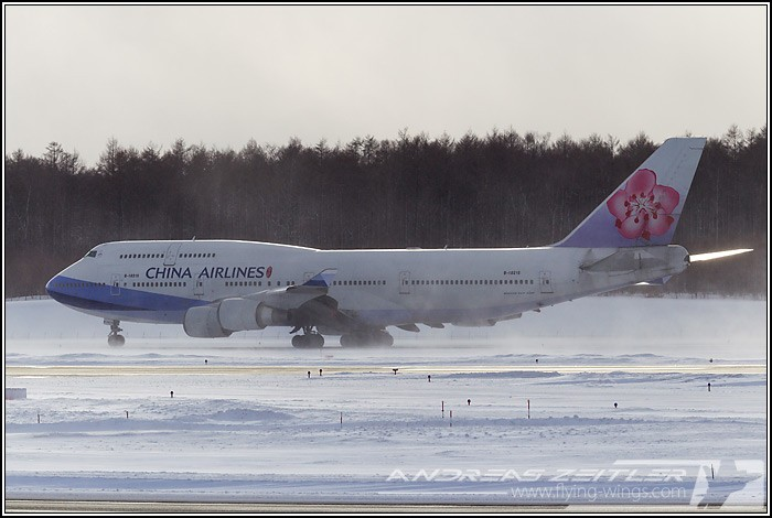 Chitose Airport China Airlines 2840 Zeitler 700 470 90